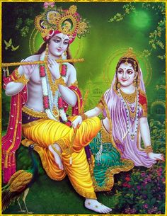 Radha and Krishna are one being. She's part of Him