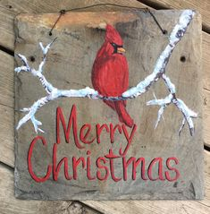 Excited to share this item from my shop: Merry Christmas cardinal hand painted sign on antique slate tile Christmas Wood Crafts, Merry Christmas Sign, Christmas Canvas, Christmas Paintings, Diy Christmas Ornaments, Christmas Art, Christmas Projects, Holiday Crafts, Christmas Decorations