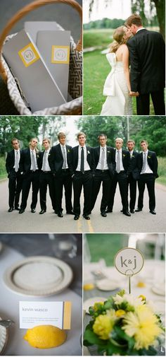 i like the different tie on the groom to distinguish him from the groomsmen