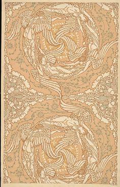 Four Winds | Crane, Walter, Wallpaper, 1890