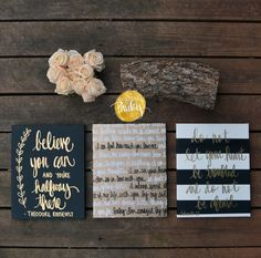 inspirational wall decor black and gold!