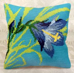 """Collection D'Art #crossstitch Kit       16"""" x 16"""" LYS SAUVAGE #pillowcover"""