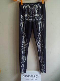 skeleton tights,skeleton leggings, christmas leggings, womens leggings, printed leggings, yoga leggings, womens pants, skeleton pants