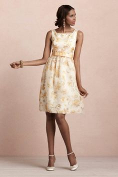 Bridesmaids dress Golden Poppies Bhldn