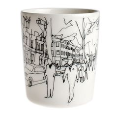 Before you head out to start your day, enjoy a latte in this city-inspired mug. Marimekko Hetkiä / Moments Latte Mug - Was: $22 Now: $17.50 (20$ off)