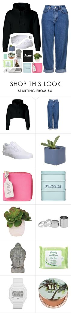 """""""LAUR"""" by jessinnnes ❤ liked on Polyvore featuring Topshop, Vans, Acne Studios, Kitchen Craft, Lux-Art Silks, Betty Jackson, Universal Lighting and Decor, Simple, adidas and Urban Decay"""