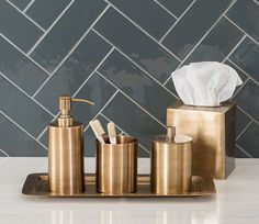 edison brass bathroom accessories : balineum