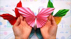 Easy Paper Butterfly | Origami butterfly | Origami for Beginners | Wall ...