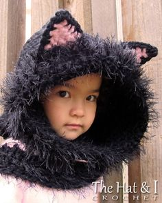 CROCHET PATTERN The Cat's Meow Hood & Cowl a by TheHatandI