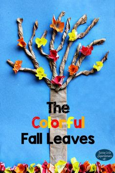 The Color Fall Leaves Craft for Kids is a simple and easy-to-make paper project. This fall craft for kids is a fun way to teach children about why the leaves change colors and fall from the trees. Easy Fall Crafts, Holiday Crafts For Kids, Halloween Crafts, Simple Crafts, Halloween Snacks, Autumn Activities, Craft Activities, Elderly Activities, Creative Activities