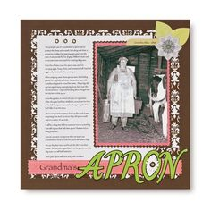 Grandma's Apron Rotary Blades Scrapbook Layout Idea from Creative Memories #scrapbooking    http://www.creativememories.com