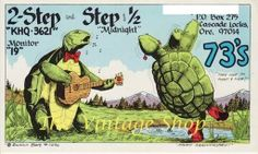 Ukulele and Dancing Turtle .. 2 Step and by thevintageshop on Etsy, $3.95