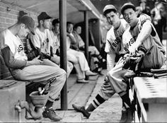 Ted Williams, Bobby Doerr, and Dom DiMaggio of the Boston Red Sox.