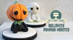 A Halloween pumpkin monster cake topper I made for a...