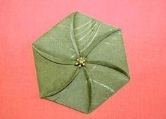 Fabric origami flower tutorial