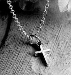Tiny Cross Necklace  sterling silver by Kathryn by KathrynRiechert, $22.00  - Continued!