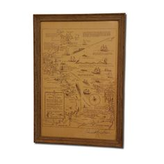 Vintage Nautical Map of Cape Cod - f.in.d.s. furnishings.interiors.design.style. llc