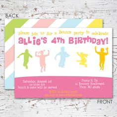 LOVE this classy Bounce House Birthday Party Invitation via Swankypress on Etsy.