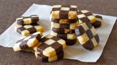 EASY Checkerboard Cookies (Ice Box Cookie) チェックボックスクッキー (アイスボックスクッキー) - ...