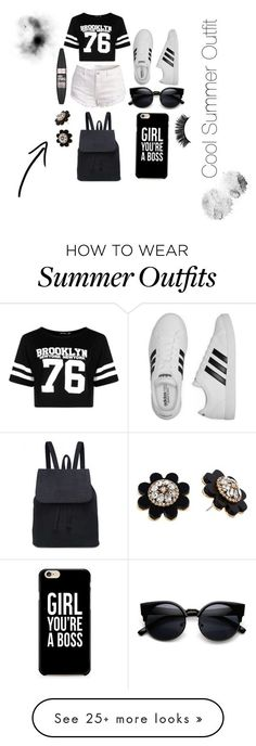"Summer Outfits : ""Cool Summer Outfit"" by angerodaway on Polyvore featuring Boohoo adid"