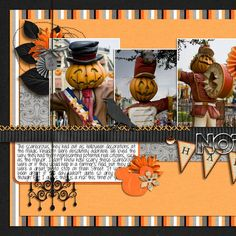 Disney layout - Halloween/ Fall I'd love to do a scrapbook page like | http://best-scrapbook-photos.blogspot.com