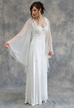 White Angel  Medieval and Celtic Wedding GownsCeltic Wedding Dress from Lindsay Fleming   Tyra with Kilda Coat  . Plus Size Celtic Wedding Dresses. Home Design Ideas