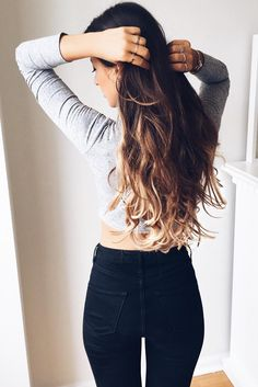 Sometimes all a girl wants is long hair! Ombre Blonde Luxy Hair Extensions do the trick ;)