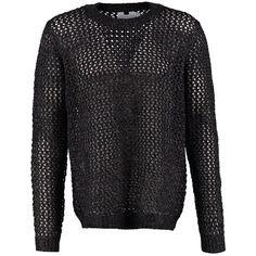 Pullover mit Grobstrick - Lässiger schwarzer Pullover von Topman. Er begeistert mit dem Grobstrick-Muster. Besonders gut sieht er über einem Hemd getragen aus! - ab 37,95€