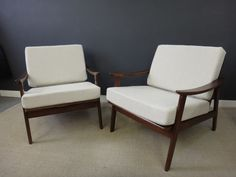 We refinished and glued the frames and replaced the cushions, which were covered in the client's choice of fabric.