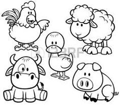 Vector Vector Illustration Of Cartoon Animals Farm Set - Coloring Book .Vector Illustration Of Cartoon Animals Farm Set - Coloring Book . Farm Animal Coloring Pages, Colouring Pages, Coloring Books, Coloring Sheets, Cartoon Whale, Baby Cartoon, Animal Books, Digi Stamps, Drawing For Kids