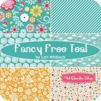 Fancy Free Teal One Yard PackLori Whitlock for Riley Blake Designs