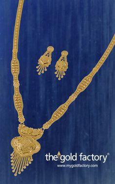 A gorgeous lightweight sita-har in re-worked Boubazaar style in hallmarked 22K gold.