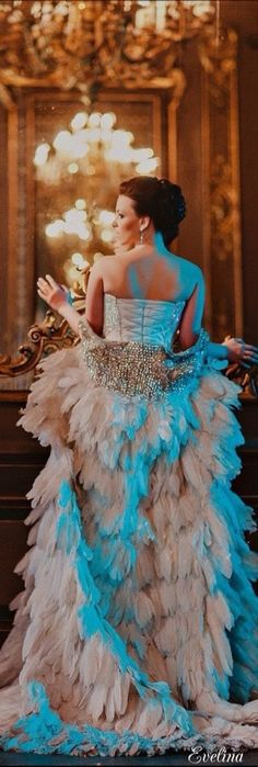 Masquerade At The Chateau Lovely Dresses, Beautiful Gowns, Feather Fashion, Enchanted Evening, Black Tie Affair, Frou Frou, Masquerade, Couture Fashion, Evening Gowns