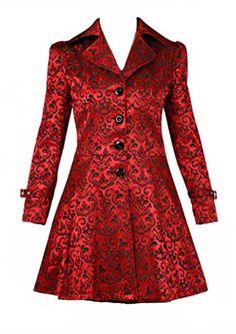 e973f11477 Red Damask Gothic Vampire Corset Jacket