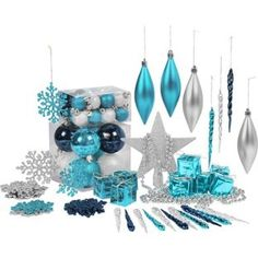 christmas tree decoration ideas blue - Google Search