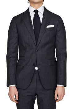 Parma Slim Grey Sharkskin Suit