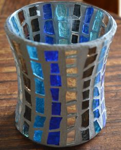 Multi-colored candle holder
