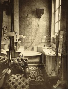 Paul Nadar - Bathroom of the young Princess Radziwill (1884)