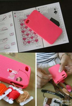sewing for your I phone case.