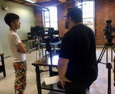 Alex Enman demos RED + ARRI cameras with summer intern Santa. Digital Cinema, Cameras, Boston, Santa, Training, Summer, Red, Check, Summer Time