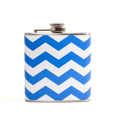 Chevron Flask Blue