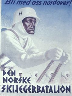 """""""Join Us Up North!""""  SS recruiting poster aimed at Norwegians."""