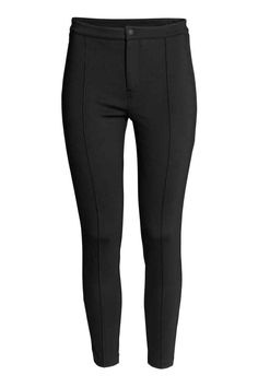 Treggings: Jersey treggings in a viscose blend with a slight sheen, with a zip…