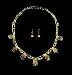 A necklace of Roman glass beads Circa 1st-3rd Century A.D. - Restrung, the Roman…