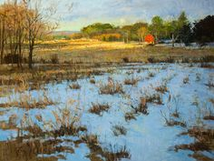 Peter Fiore  Late Winter Moon, March oil/linen, 30x40