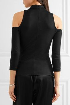 L'Agence - Sasha Cold-shoulder Stretch-jersey Top - Black - x small
