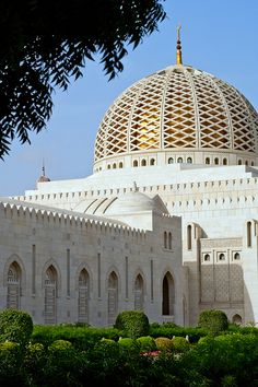 Dome of Sultan Qaboos Grand Mosque. Muscat, Oman.