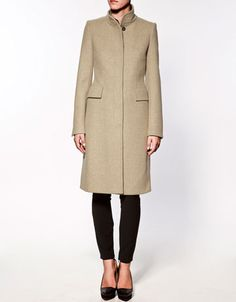 Straight line coat. Love the formality of it.