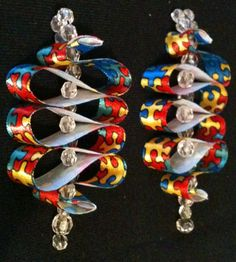 Autism Awareness Ribbon Candy Ornaments, Set of 2, $10, Selling in Etsy Store FrancesMCross