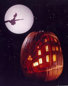 Contest winner at Hotel La Posada de Santa Fe for pumpkin carving 1994